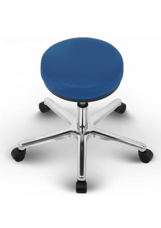 Liber Arbeitshocker Arbeitsstuhl Leder Blau