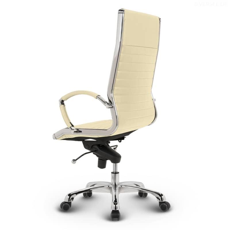leder design drehstuhl chefsessel b rostuhl montreal weiss ebay. Black Bedroom Furniture Sets. Home Design Ideas