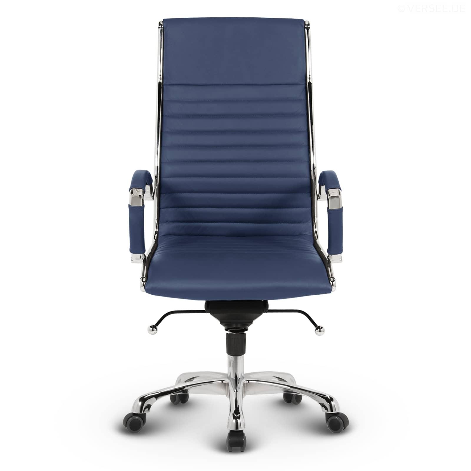 montreal chefsessel leder blau kaufen versee. Black Bedroom Furniture Sets. Home Design Ideas