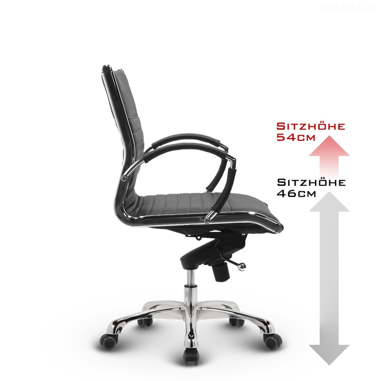 Bürostuhl Drehstuhl Schreibtischstuhl Konferenzstuhl Stoff Chrom Montreal Design
