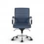 Montreal Design Bürostuhl Leder Blau