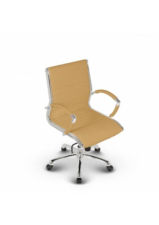 Montreal Design Bürostuhl Leder Ocker