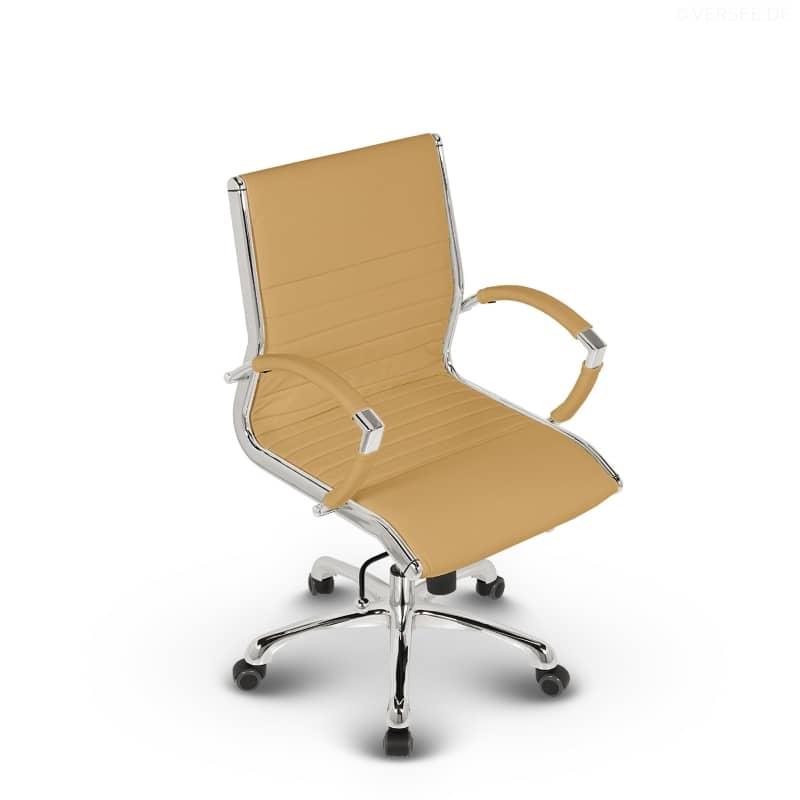 leder design drehstuhl b rostuhl montreal low back braun ebay. Black Bedroom Furniture Sets. Home Design Ideas