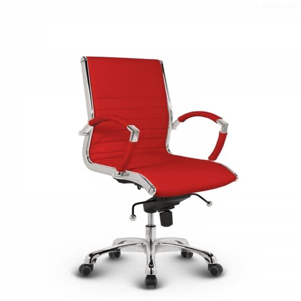 Montreal Design Bürostuhl Leder Rot