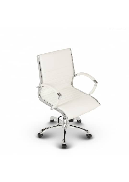 Montreal Design Bürostuhl Leder Weiß
