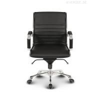 Montreal Design Bürostuhl Leder Schwarz