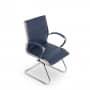 Montreal Design Besucherstuhl Konferenzstuhl Leder Blau