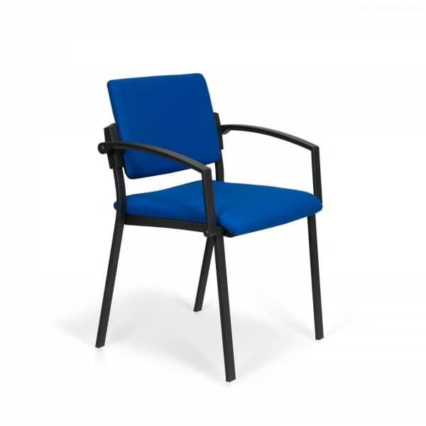 R01 - Besucherstuhl - Stoff - Blau