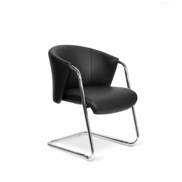 Sessel Lobby Chair Leder Schwarz