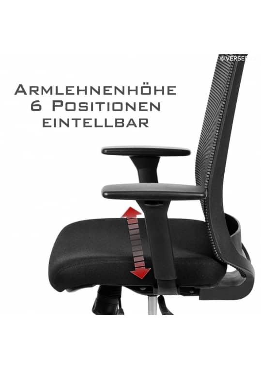 Tanda Low Back Stoff/Mesh Schwarz