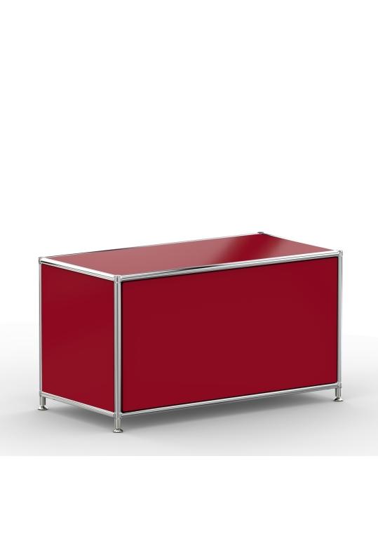Lowboard 01001 - 1 x Klappe Metall rubinrot