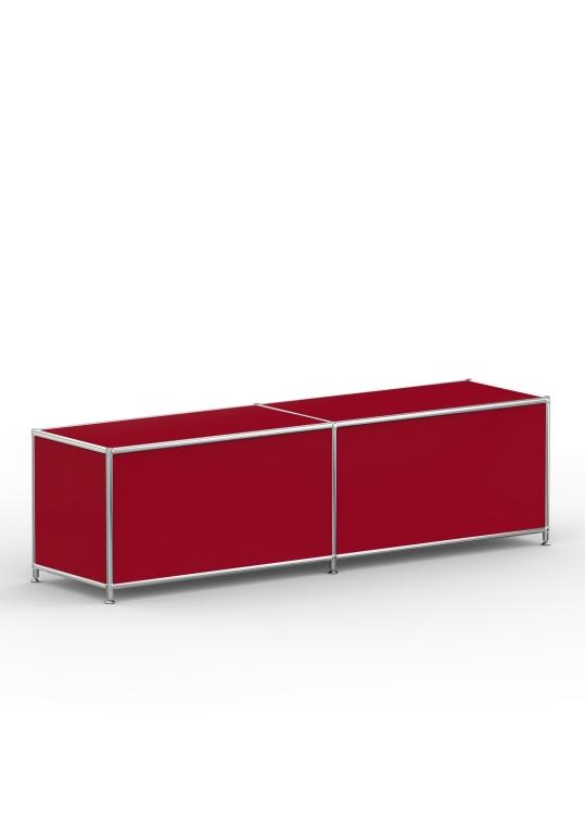 Lowboard 01002 - 2 x Klappe Metall rubinrot