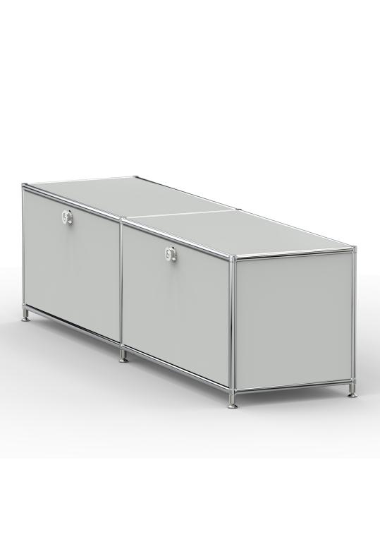 Lowboard 01002 - 2 x Klappe Metall lichtgrau
