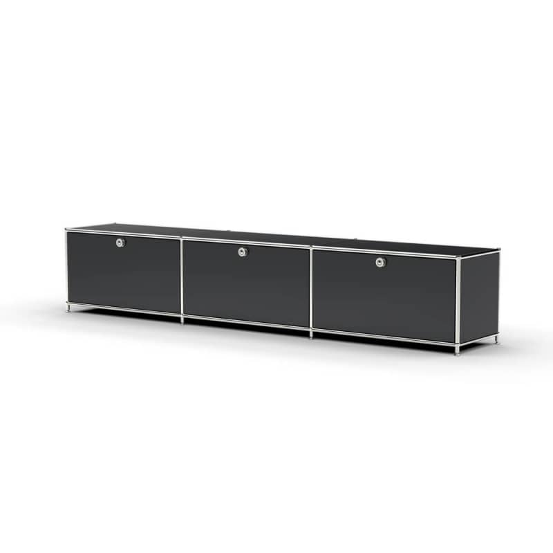 lowboard 01003 3 x klappe metall versee. Black Bedroom Furniture Sets. Home Design Ideas