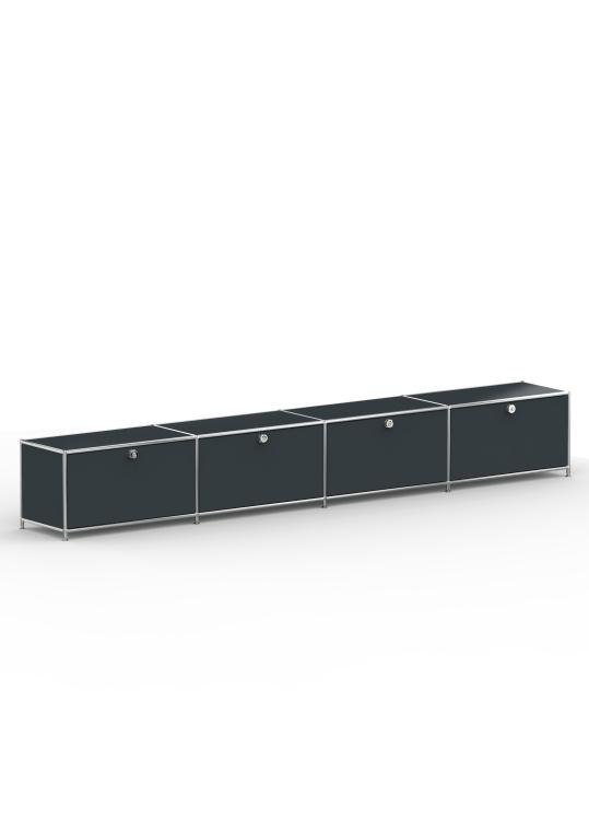 Lowboard 01004 - 4 x Klappe Metall anthrazitgrau