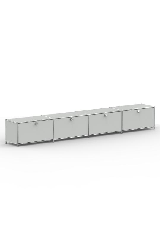 Lowboard 01004 - 4 x Klappe Metall lichtgrau