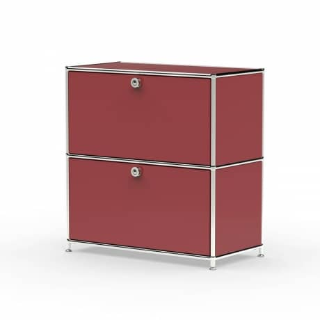 Sideboard 02101 - 2 x Schublade Metall rubinrot