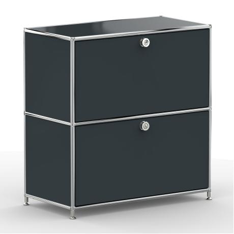 Sideboard 02001 - 2 x Klappe Metall anthrazitgrau