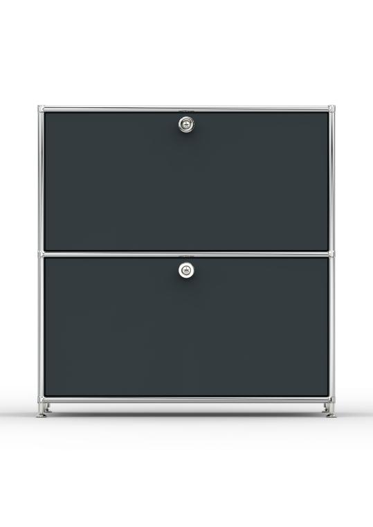 Sideboard 02101 - 2 x Schublade Metall anthrazitgrau
