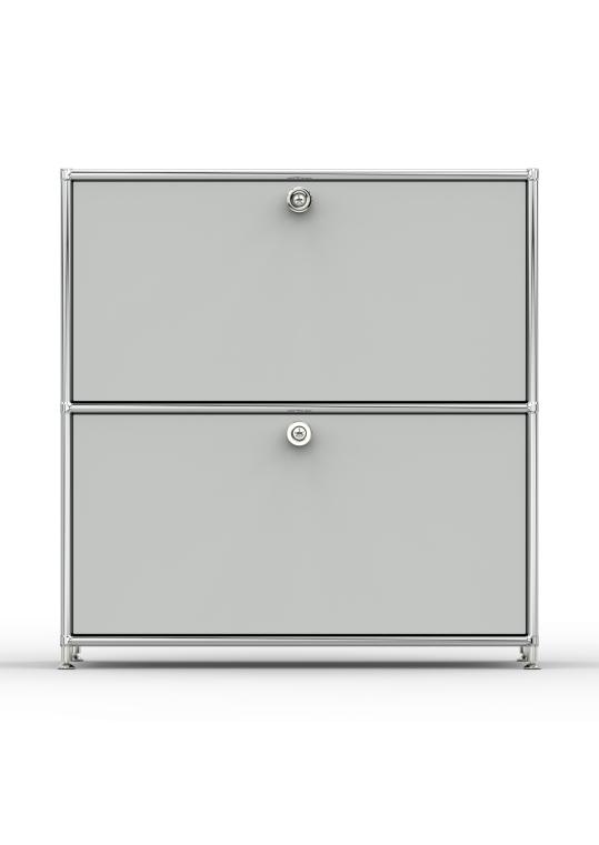Sideboard 02101 - 2 x Schublade Metall lichtgrau