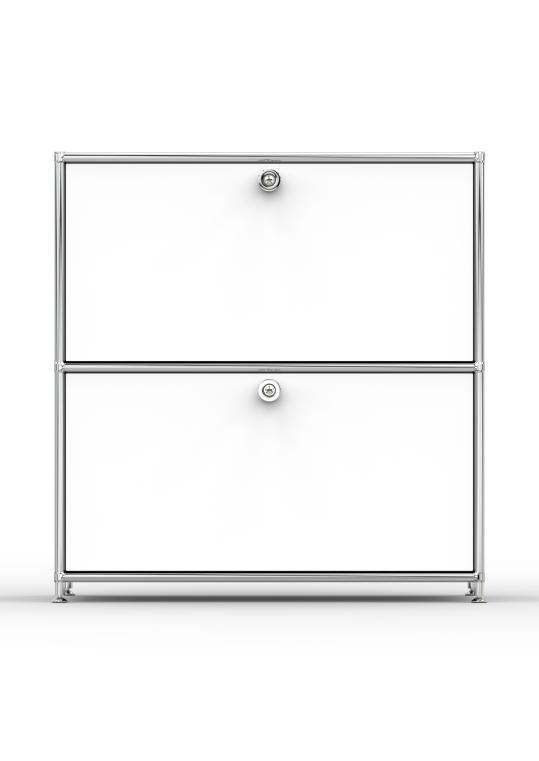Sideboard 02101 - 2 x Schublade Metall signalweiss