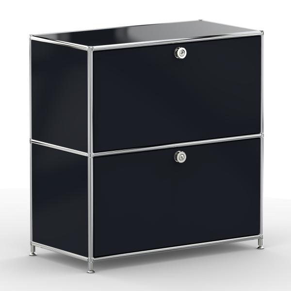 Sideboard 02101 - 2 x Schublade Metall graphitschwarz