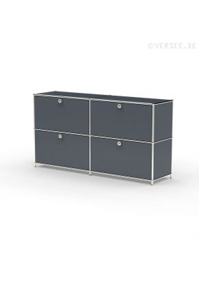 Sideboard 02002 - 4 x Klappe Metall anthrazitgrau