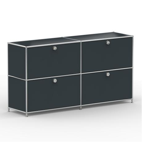 Sideboard 02002 - 4 x Klappe - Metall - Anthrazitgrau (RAL 7016)