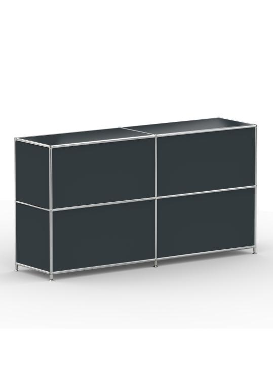 Sideboard 02102 - 4 x Schublade Metall anthrazitgrau