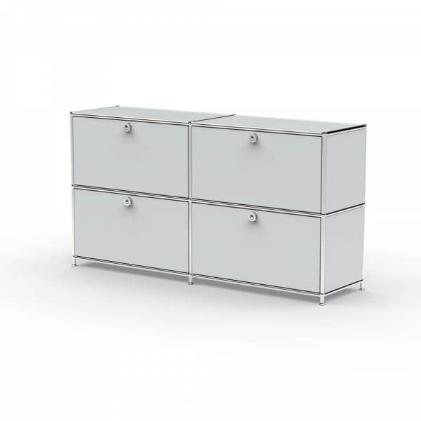 Sideboard 02002 - 4 x Klappe Metall lichtgrau