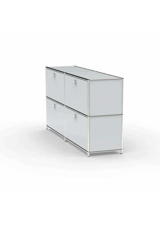 Sideboard 02102 - 4 x Schublade Metall lichtgrau