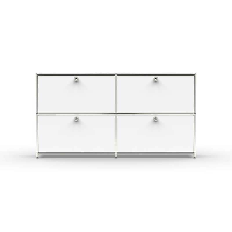 sideboard 02102 4 x schublade metall signalweiss bild 03. Black Bedroom Furniture Sets. Home Design Ideas