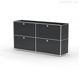 Sideboard 02002 - 4 x Klappe Metall graphitschwarz