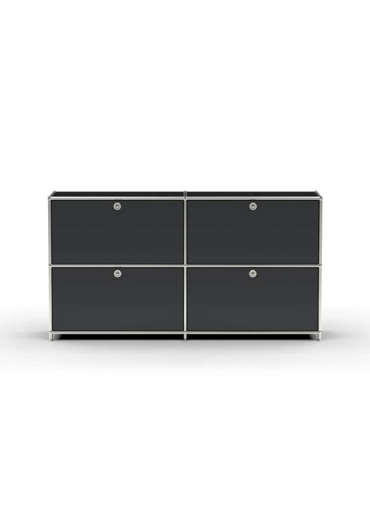 Sideboard 02102 - 4 x Schublade Metall graphitschwarz