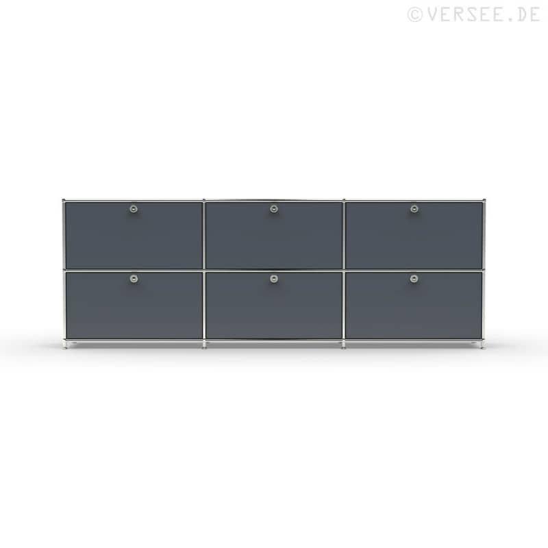 sideboard 02103 6 x schublade metall versee. Black Bedroom Furniture Sets. Home Design Ideas