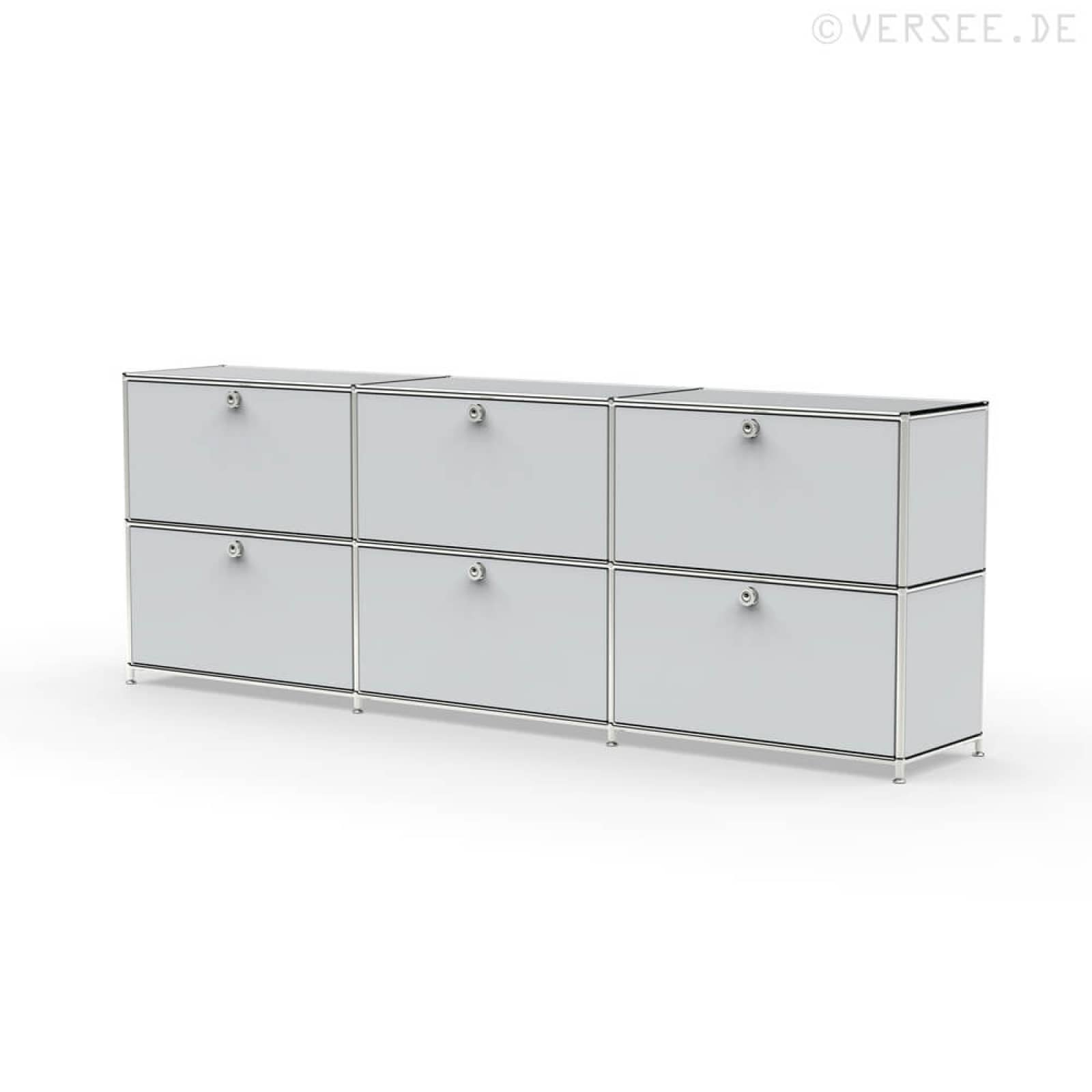 system8x sideboard regal system b roschrank modular klappe metall chrom 02003 ebay. Black Bedroom Furniture Sets. Home Design Ideas
