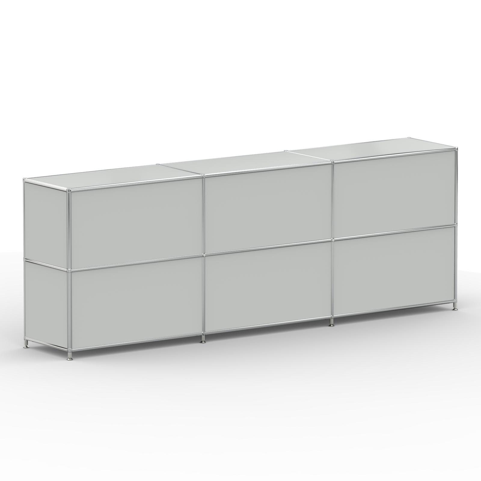 Sideboard 6xschublade Metall Grau Kaufen Versee