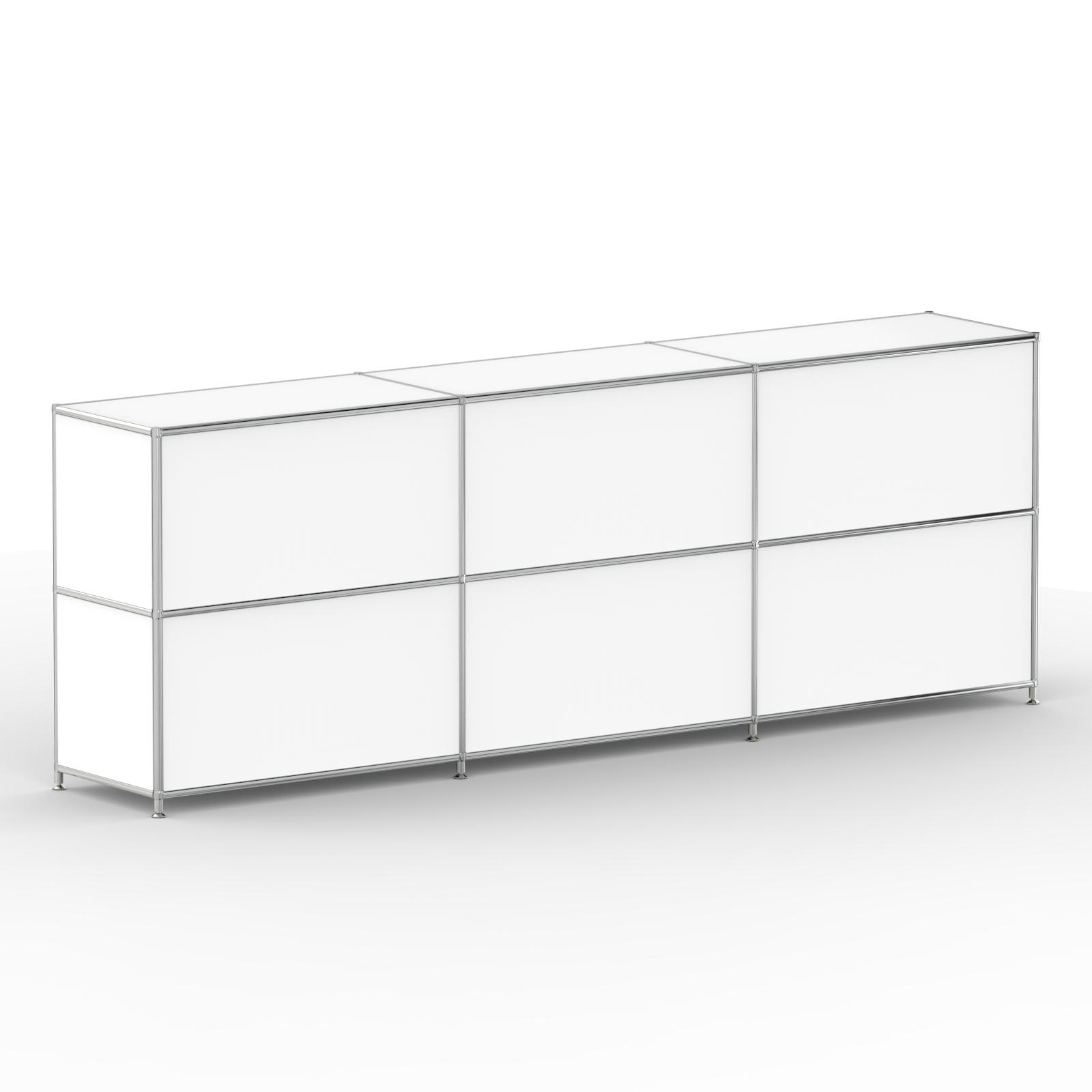 system8x sideboard regal system b roschrank modular klappe metall chrom 02003 ebay. Black Bedroom Furniture Sets. Home Design Ideas