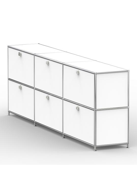 Sideboard 02003 - 6 x Klappe Metall signalweiss