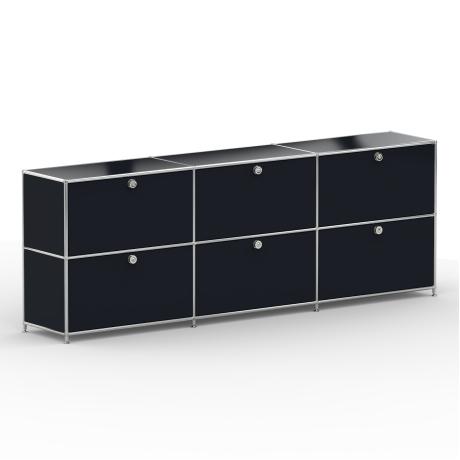 Sideboard 02103 - 6 x Schublade Metall graphitschwarz