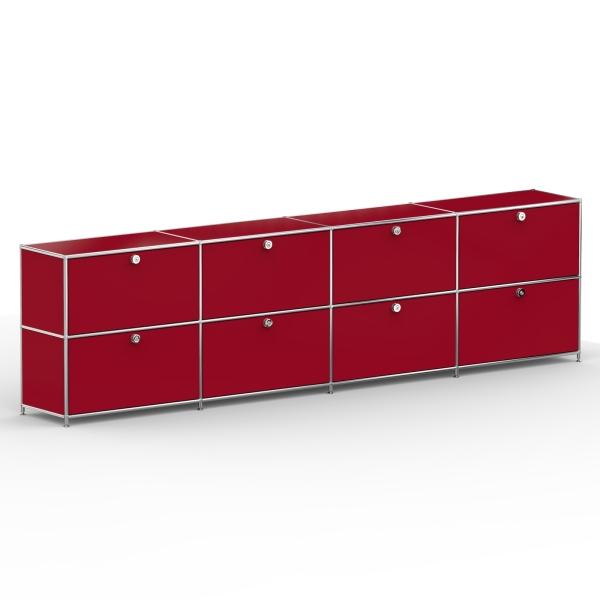 Sideboard 02004 - 8 x Klappe Metall rubinrot