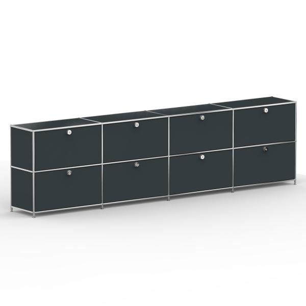 Sideboard 02004 - 8 x Klappe Metall anthrazitgrau