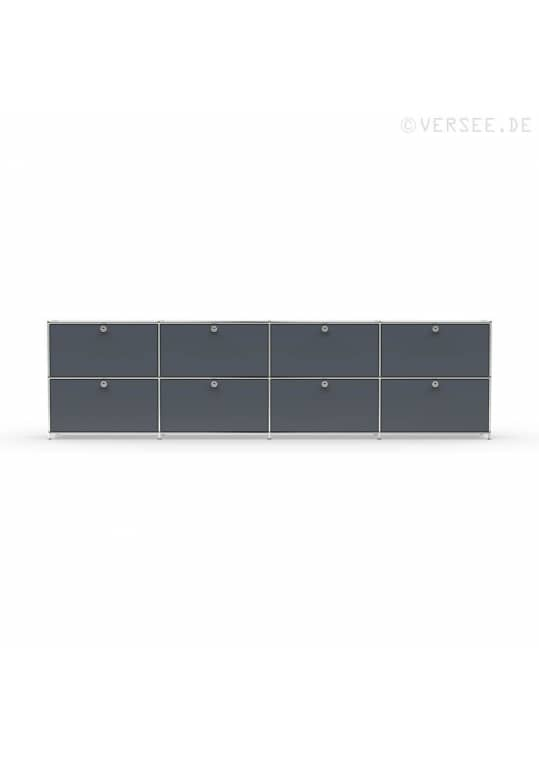 Sideboard 02104 - 8 x Schublade Metall anthrazitgrau