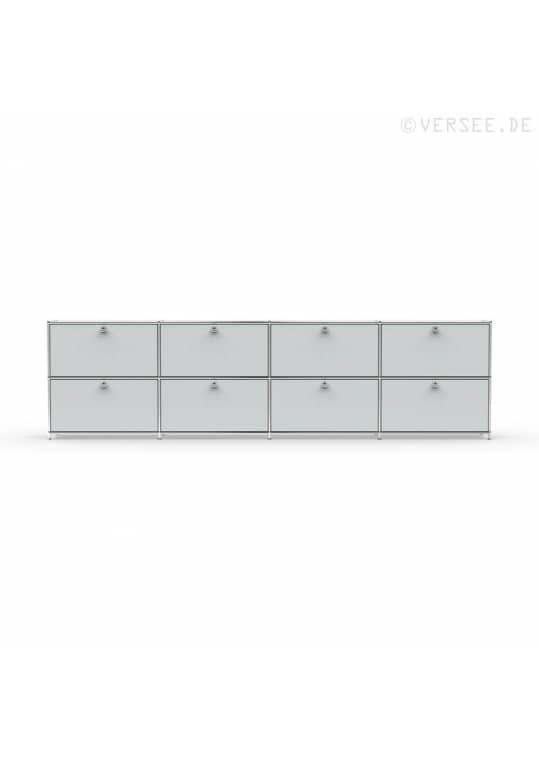 Sideboard 02004 - 8 x Klappe Metall lichtgrau