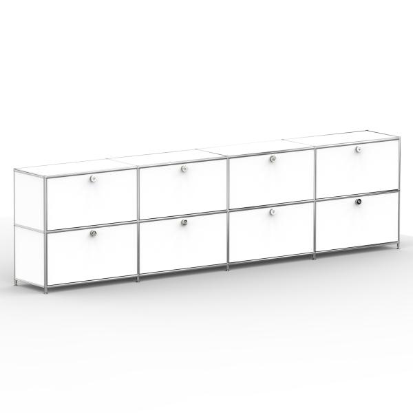Sideboard 02004 - 8 x Klappe Metall signalweiss