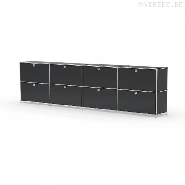 Sideboard 02004 - 8 x Klappe Metall graphitschwarz