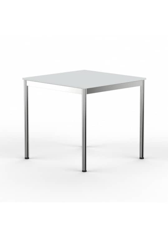 Schreibtisch Konferenztisch 60 x 60cm lichtgrau