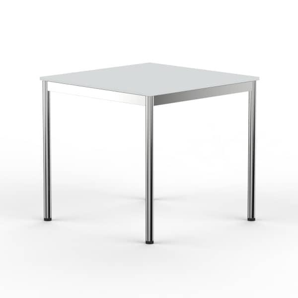 Schreibtisch Konferenztisch 70 x 70cm lichtgrau