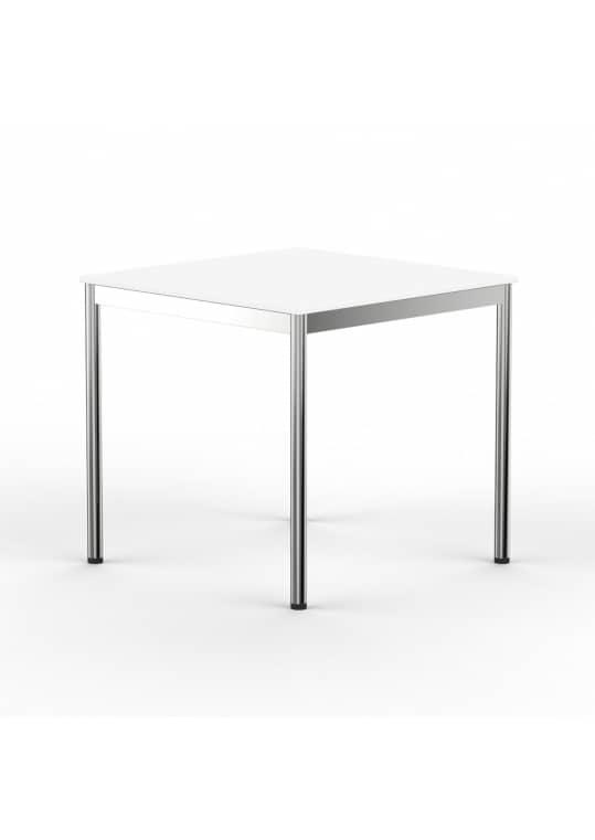 Schreibtisch Konferenztisch 100 x 100cm weiss