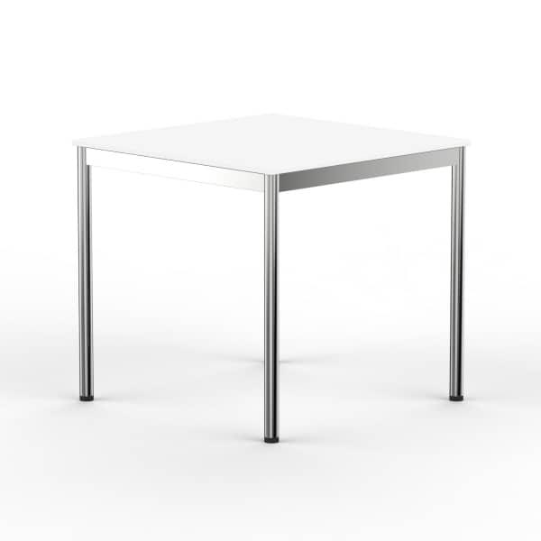Schreibtisch Konferenztisch 60 x 60cm weiss